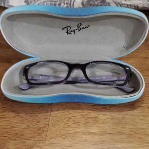 Purple Ray-ban Glasses with original Ray-ban case